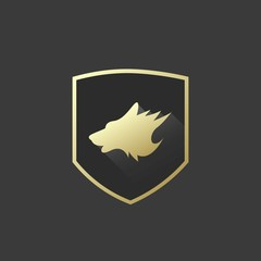 Wolf Logo with Gold Shield