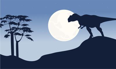 At night mapusaurus scenery silhouettes