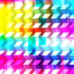 bright psychedelic abstract geometric background