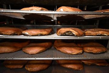 Smoked Ham in seasoning cell