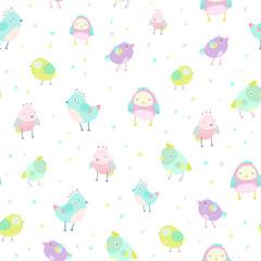 Cute birds pattern.