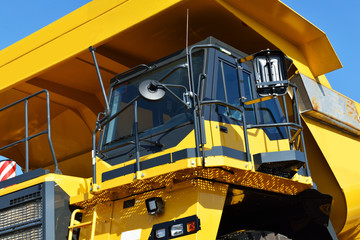 view the mining truck cabin