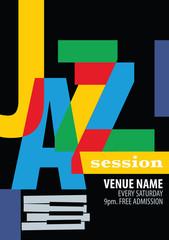 Jazz Festival Poster Template.