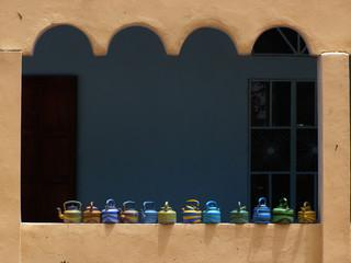 puerta de una mezquita en Senegal