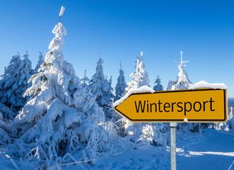 Wintersport Schild