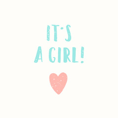 its a girl greeting card.
