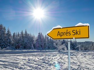 Après Ski Schild