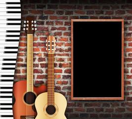 Guitar And Keyboard Wall