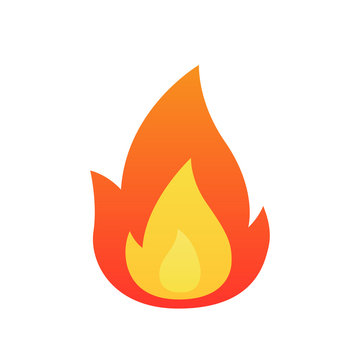 Fire flame vector isolated