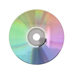 plate CD, DVD disc isolated on white background