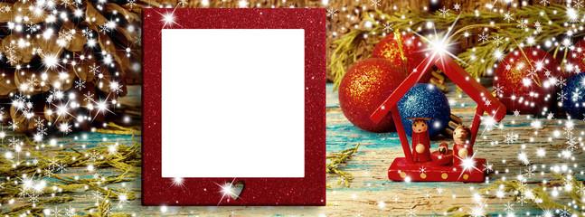 Christmas blank photo frame card