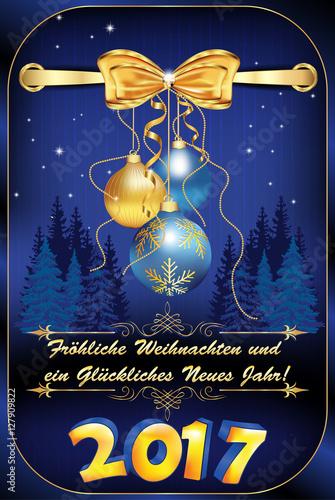 Neujahrskarte für Firmen und Unternehmen: Frohe Weihnachten und ein ...