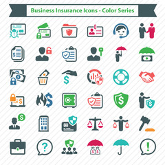 Business Insurance Icons - Color Series