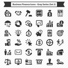 Business Finance Icons - Gray Series (Set 2)