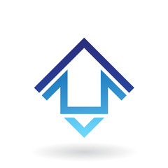 Abstract Square Shaped House Icon