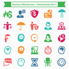 Business Ultimate Icons - Colored Series (Set 1)
