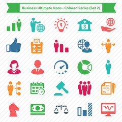 Business Ultimate Icons - Colored Series (Set 2)