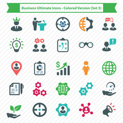 Business Ultimate Icons - Colored Version (Set 3)