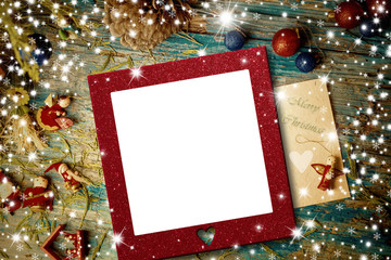 Christmas empty photo frame cards