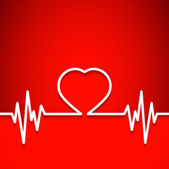 heart shape as background for medical