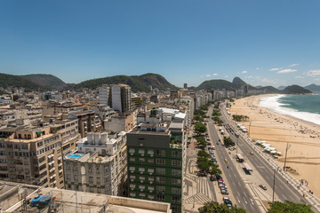 Copacabana Beach View From High Angle, Rio de Janeiro, Brazil