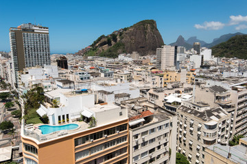 Wall Mural - High Angle View of Copacabana District in Rio de Janeiro