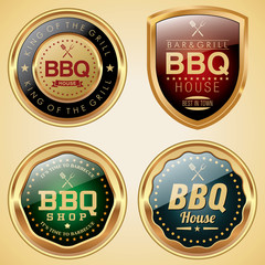 BBQ House badges