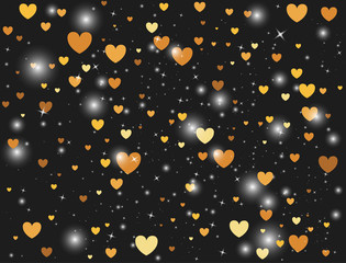 vector background with heart