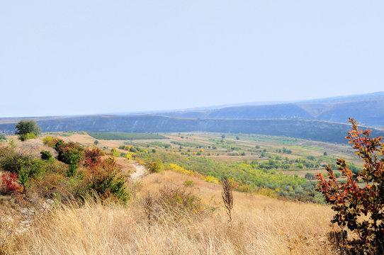 Landscape in Old Orhei region, Moldova