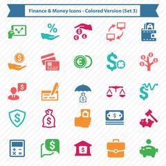 Finance & Money Icons - Colored Version (Set 3)