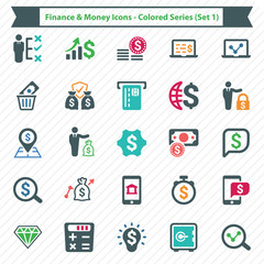 Finance & Money Icons - Colored Series (Set 2)
