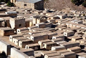 Jerusalem - Jüdischer Friedhof am Fuß des Tempelberges