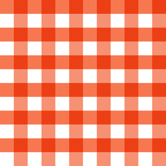 Thanksgiving Day. Red Checkered. Vector Seamless pattern background. A component of the squares without transparency. Square. The concept of a classic tartan fabric pattern.