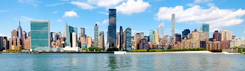 Panoramic view of the midtown Manhattan skyline in New York City