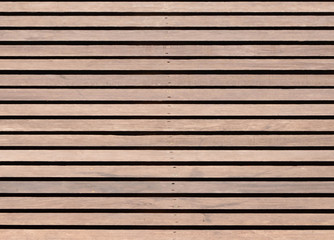 Wood slat floor