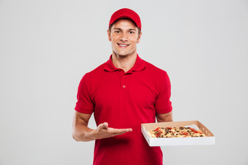 Delivery man with pizza