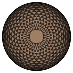 Geometric eye mandala. Vector Illustration