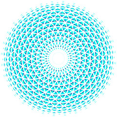 Geometric eye mandala. Colorful design element. Vector Illustration