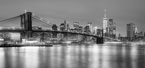 Printed kitchen splashbacks Brooklyn Bridge Panoramia of Brooklyn Bridge and Manhattan, New York City