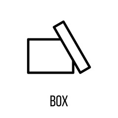 Box icon or logo in modern line style.