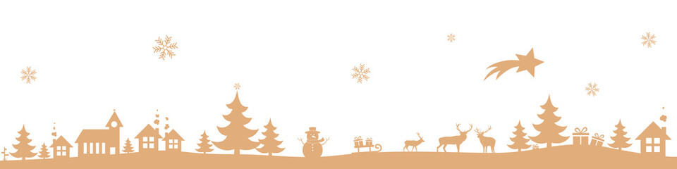 Winter landscape - Gold