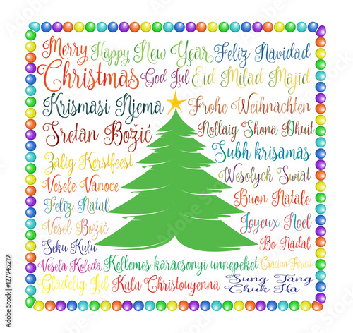 Merry christmas colorful vector illustration for holiday season of merry christmas colorful vector illustration for holiday season of christmas and new year with the m4hsunfo