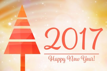 Composite image of elegant happy new year