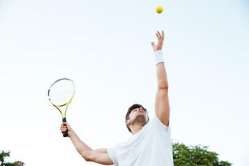 Tennis player playing