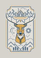 rei deer illustration