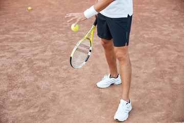 Cropped image of tennis player