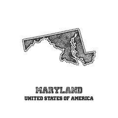 Label with map of maryland.