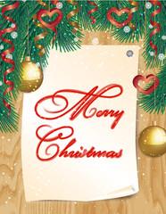 Poster Merry Christmas. Vector illustration