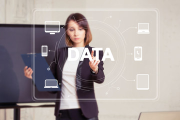 Business button data computer network