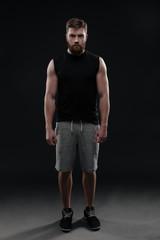 Full length fitness man